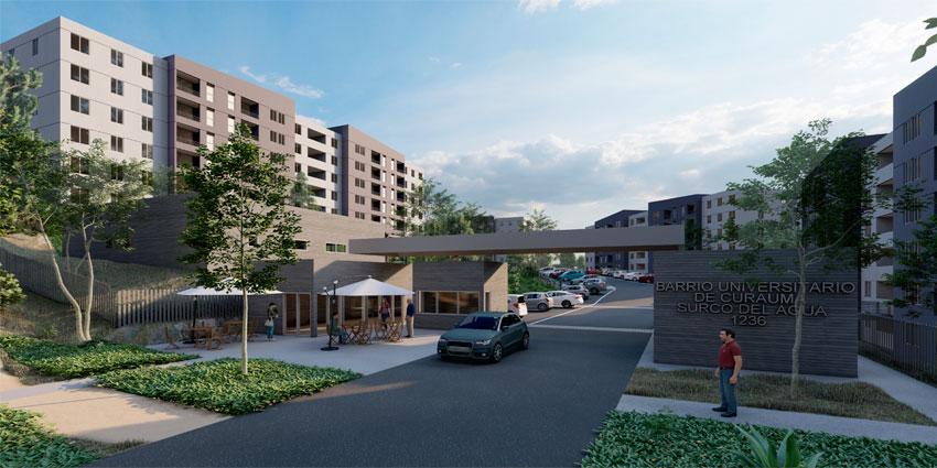 Proyecto Barrio Universitario Curauma de Inmobiliaria Comosa